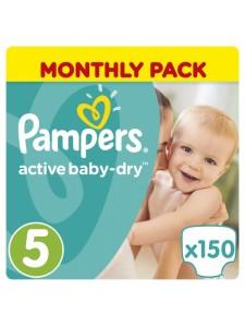 Подгузники Pampers Active Baby Junior5 (11-18 кг), 150 шт