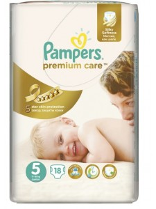 Подгузники Pampers Premium Care 5 Junior (11-18кг), 18 шт