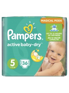 Подгузники Pampers Active Baby Junior 5 (11-18 кг), 36шт