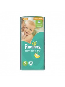 Подгузники Pampers Active Baby Junior 5 (11-18 кг), 58шт