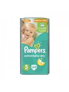Подгузники Pampers Active Baby-Dry 5 Junior (11-18 кг), 64 шт