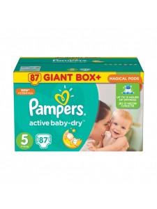 Подгузники Pampers Active Baby Junior 5 (11-18 кг), 87 шт