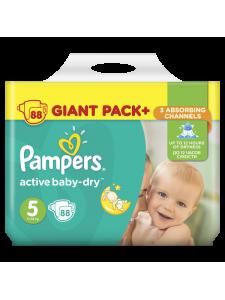 Подгузники Pampers Active Baby Junior 5 (11-18 кг), 88 шт