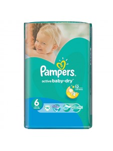 Подгузники Pampers Active Baby Extra Large 6 (15+ кг), 16шт