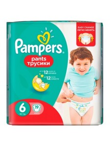Подгузники-трусики Pampers Premium Care Pants 6 (16+ кг), 19 шт
