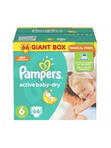 Подгузники Pampers Active Baby Extra Large 6 (15+ кг), 66 шт