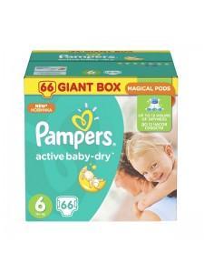 Подгузники Pampers Active Baby Extra Large 6 (15+ кг), 66 шт