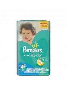 Подгузники Pampers Active Baby-Dry Maxi Plus 4+ (9-16 кг),70 шт