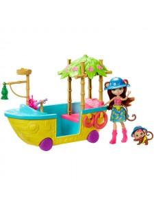 Enchantimals лодка в джунглях с куклой Мерит