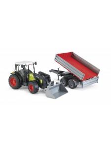 Брудер Трактор с погрузчиком и прицепом Bruder 02112