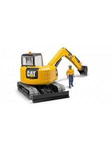 Брудер Мини Экскаватор Cat с рабочим Bruder 02466
