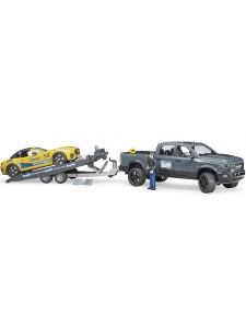 Брудер Джип Dodge RAM 2500 с прицепом и родстером Bruder 02504