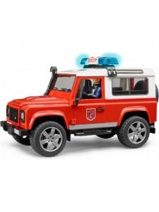 Брудер Пожарная Land Rover Defender с фигуркой Bruder 02596