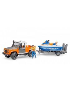 Брудер Внедорожник Land Rover с водным мотоциклом Bruder 02599