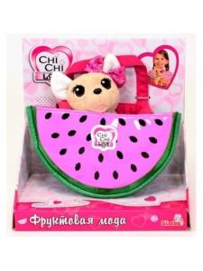 Мягкая игрушка Simba Chi Chi Love Собачка фруктовая мода с сумочкой 10 5893116