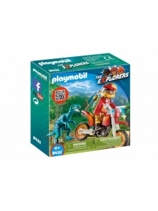 Playmobil Гоночный мотоцикл с ящером 9431