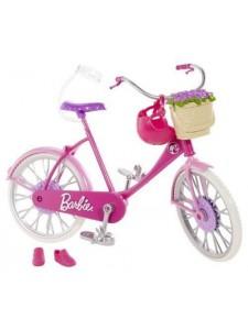 Barbie Велосипед с аксессуарами для куклы Барби BDF35