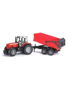 Брудер Трактор с прицепом Massey Ferguson 7480 Bruder 02045
