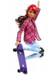 Mattel Кукла Барби Скейтбордистка Безграничные движения Barbie Made To Move DVF70