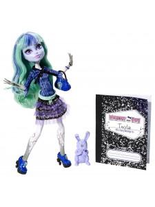 Кукла Monster High Твайла 13 желаний с питомцем BBK07
