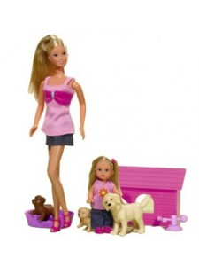 Кукла Штеффи и Эви с домашними животными Simba