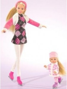 Кукла Штеффи и Эви на коньках Simba