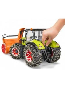 Брудер Трактор Claas Axion 950 снегоочиститель Bruder 03017