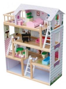 Деревянный кукольный домик Laura Wooden Toys