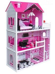Деревянный кукольный домик Roza Wooden Toys