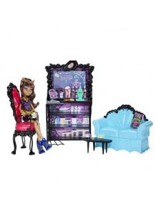 Кукла Monster High Клодин Вульф с мебелью Коффин Бин X3721