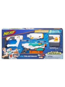 Бластер Nerf Модулус Три-Страйк Нёрф Hasbro B5577