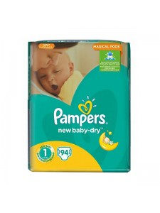 Подгузники Pampers New Baby-Dry Newborn 1 (2-5 кг), 94 шт