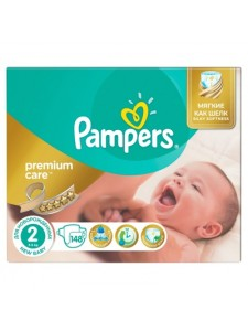 Подгузники Pampers Premium Care Mini 2 (3-6 кг), 148 шт