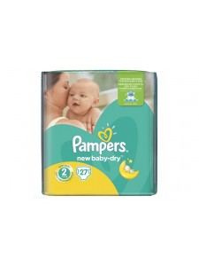 Подгузники Pampers New Baby-Dry 2 Mini (3-6 кг), 27 шт