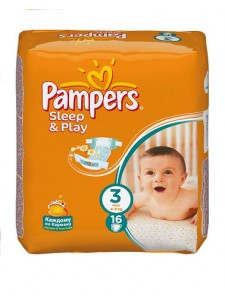 Подгузники Pampers Sleep&Play 3 Midi (5-9 кг), 16шт