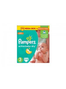 Подгузники Pampers Active Baby Midi 3 (5-9 кг), 174 шт