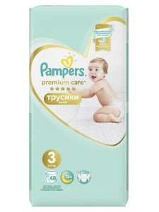 Подгузники-трусики Pampers Premium Care Pants 3 Midi (6-11 кг), 48 шт