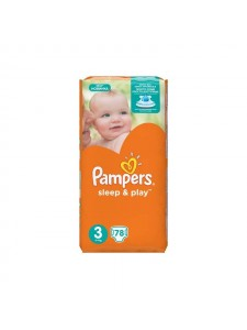 Подгузники Pampers Sleep&Play 3 Midi (5-9 кг), 78 шт