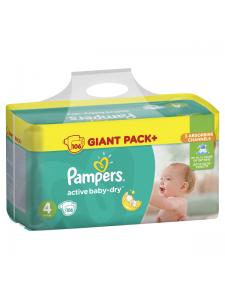 Подгузники Pampers Active Baby Maxi 4 (8-14 кг), 106 шт