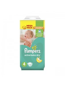 Подгузники Pampers Active Baby-Dry Maxi 4 (8-14 кг), 132 шт