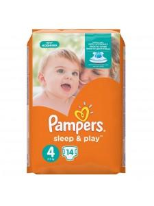 Pampers подгузники Sleep&Play 4 (8-14 кг) 14 шт