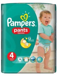 Подгузники-трусики Pampers Pants 4 (9-14 кг), 16 шт