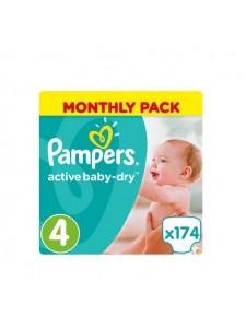 Подгузники Pampers Active Baby Maxi 4 (8-14 кг), 174 шт