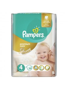 Подгузники Pampers Premium Care 4 Maxi (8-14 кг), 20 шт