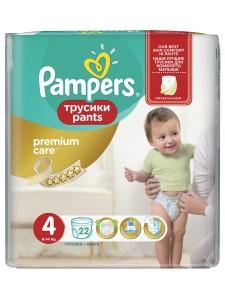 Подгузники-трусики Pampers Premium Care Pants 4 (8-14 кг), 22 шт