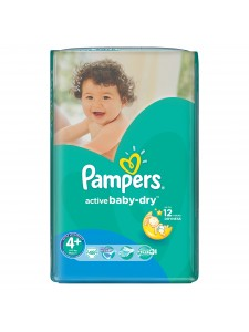 Подгузники Pampers Active Baby Maxi Plus 4+ (9-16 кг),48 шт