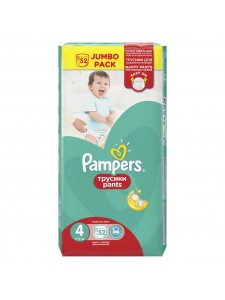 Подгузники-трусики Pampers Pants 4 Maxi (8-14 кг), 52 шт