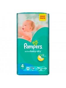 Подгузники Pampers Active Baby Maxi 4 (7-14 кг), 58 шт