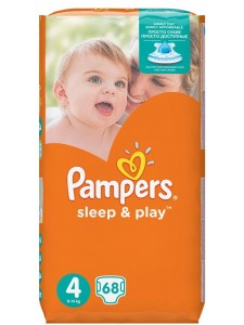 Подгузники Pampers Sleep&Play 4 Maxi (8-14 кг), 68 шт