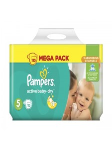 Подгузники Pampers Active Baby-Dry Junior 5 (11-18 кг), 110 шт